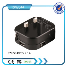 Reino Unido Plug Dual USB Wall Charger Universal