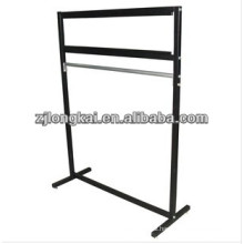 Sturdy knock-down functional flooring metal hanging carpet sample display rack