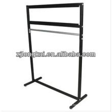 Sturdy knock-down functional flooring metal hanging carpet sample display rack