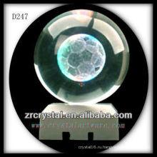 К9 недр 3D лазерное Футбол Вытравленный хрустальный шар
