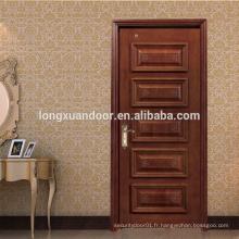 Porte en bois en teck, porte en bois massif, design de porte principale en teck