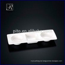 P & T Porzellan Fabrik Rechteck Fach Saucer Gericht Wasabi & Soja Untertasse Gericht für Buffet verwenden