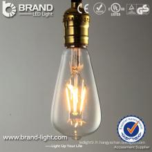 Lumière d'ampoule à filaments 2300K 2700K 6W haute qualité