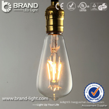 High Quality Glass 2300K 2700K 6W Filament Bulb Light