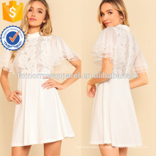 Рябить Подол цветочные печати платье Производство Оптовая продажа женской одежды (TA3221D)