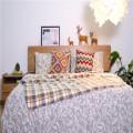Комплект постельного белья с двойной щеткой, одеяло из микрофибры