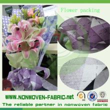 Цвета и печатных нетканые цветок упаковочный материал