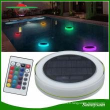 Lumière flottante solaire de piscine, lumière actionnée solaire de décoration de LED pour la piscine, le jardin et la partie Extérieure IP68 couleur légère imperméable à l'eau changée par à télécommande