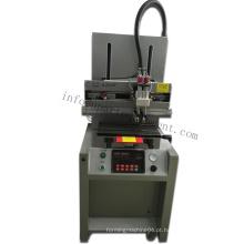 Máquina pneumática de impressão de tela em forma de T para venda para placas de metal / PVC / Plastico Tamanho da mesa de trabalho 20X 30cm