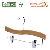 Shiny Beechwood Trousers Hanger for Private Label