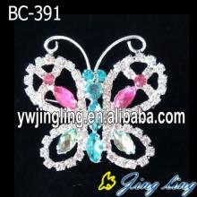 Beautiful Rhinestone Custom Butterfly Brooch Pins
