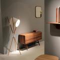 Lampadaire LED en bois