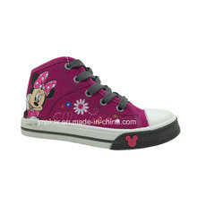 Moda dos desenhos animados sapatos crianças calçados tênis (x166-s & b)