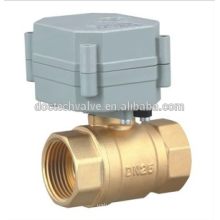 DN32 1-1/4'' 2 Way DC12V/24V stainless steel motorized ball valve for Water equipments, auto-control water system,from China