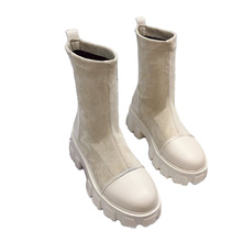 High quality wholesale 2021 women winter autumn pu leather low boots ladies outdoor platform casual shoes
