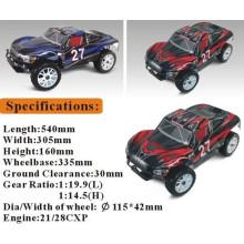 Пульт дистанционного управления игрушки модель 1/8 нитро RC автомобилей с легкими