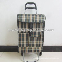 Promotion! Two Wheels Foldable Shopping Trolley Bags Cart
