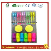 Briefpapier Set mit Mini Gel Stift
