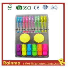 Set de papelaria com Mini Gel Pen