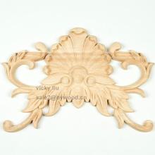 твердая резьба по дереву цветочная мебель украсить деревянные накладки