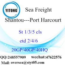 汕頭市港海貨物輸送のポートハー コートに