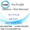 Shantou Port Sea Freight Shipping ke Port Harcourt
