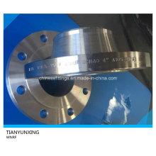 ASME B16.5 Sch40 cuello de soldadura Brida de acero al carbono