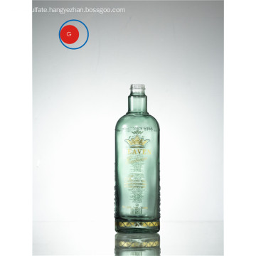 High Shoulder Glass Bottle Printing and Golden Decal