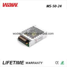 Driver do diodo emissor de luz do anúncio de MS-50 SMPS 50W 24V 2A