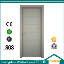 Puerta de madera coloreada sólida del MDF del núcleo para los hoteles y las casas residenciales