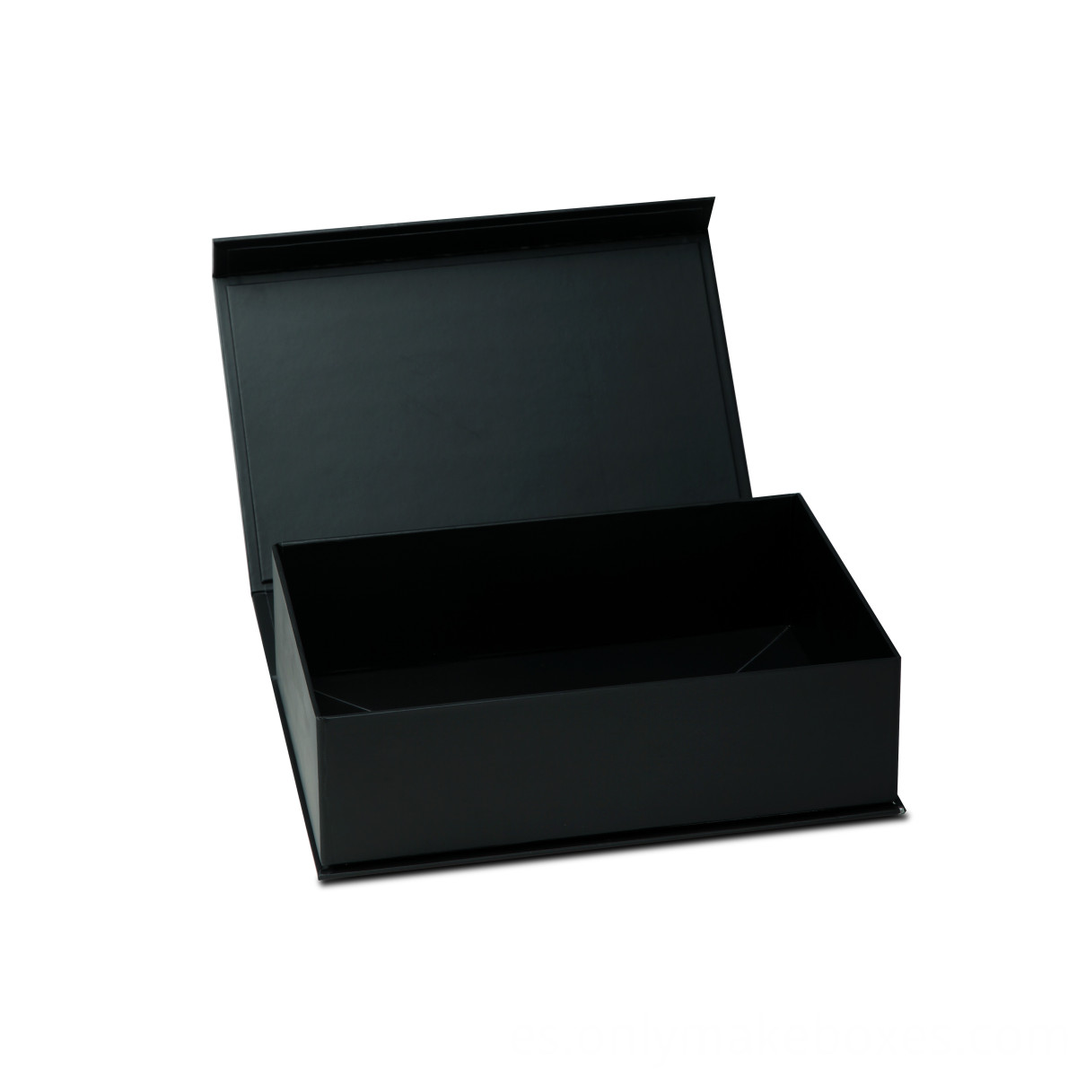 black Collapsible Box with side way folding and magnet closure