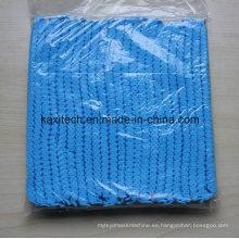 Uso hospitalario Niza material no tejido de calidad Bouffant tapón desechable