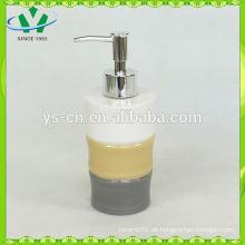 Bambus Design Keramik Flüssig Seifenspender
