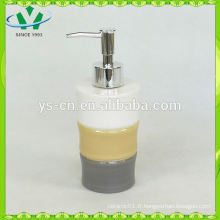 Distributeur de savon liquide en céramique design en bambou