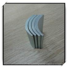 Seltene Erden Arc Shape Segment Magnet mit Verzinkung