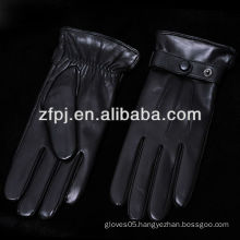 fashion black winter driving italian gloves