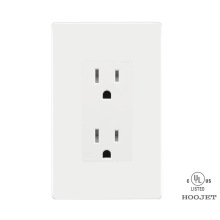 Europe style for China Duplex Receptacle TR UL,White Duplex Receptacle TR UL,Electrical Duplex Receptacle TR UL,Wall Duplex Receptacle TR UL Manufacturer and Supplier HJ-8047TR Double Wall Socket 15A/120V TR Clip Wiring supply to Oman Importers