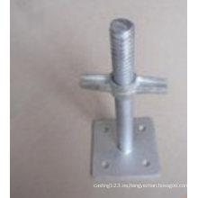 Base de ajuste galvanizada DIP caliente del andamio del acero de carbono del OEM para las piezas de la construcción