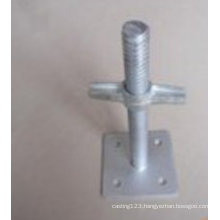 OEM Carbon Steel Hot DIP Galvanized Scaffold Adjustment Base for Construction Parts