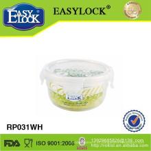 Recipientes de comida de plástico redondo microondas