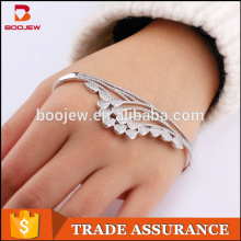 Latest sex design 925 sterling silver cz bangle jewelry for women