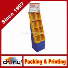 Cardboard Retail Books and Magazine Floor Displays Pocket Stand (6128)