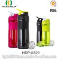 1000ml neón Color BPA libre proteína plástico botella de la coctelera (HDP-0329)