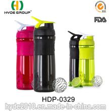 1000ml néon couleur BPA libre protéine Shaker en plastique bouteille (HDP-0329)