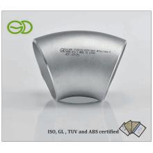 Conector sem costura do cotovelo de ASTM 403 (45 graus 3''SCH10S)