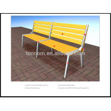 outdoor public bench