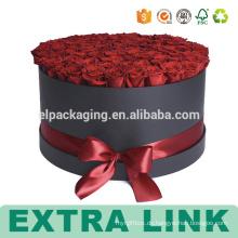 Kundenspezifischer Geschenkverpackungskasten des Guangzhou-Lieferanten Luxushut-Designpapppapiers runder Blumenkasten