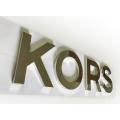 Escovado polido galvanizado chapeado não-iluminado metal aço inoxidável 3D logotipo carta sinal