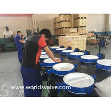 Split Body PTFE Lining Wafer Type Butterfly Valve