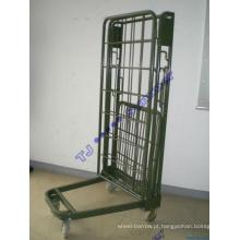 Gaiola de segurança de rolamento de metal / Recipiente de rolo dobrável